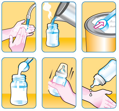 How to make formula feed