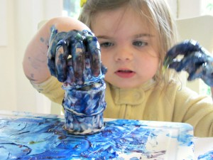 finger-painting activities